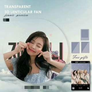 BLACKPINK JENNIE 3D LENTICULAR FAN