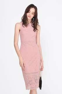 🚚 Fayth Jayle Lace Midi Dress