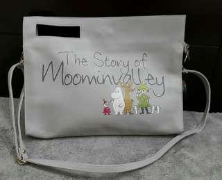 全新正辦 Moomin 手袋,可手挽/側孭 (購於日本)