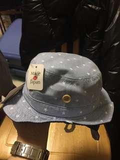 購自日本嬰兒日本製漁夫帽 (頭圍44cm)