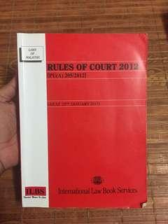 Rules of Court 2012