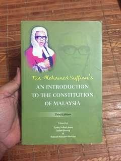 Tun Suffian - An Introduction to The Constitution Law of Malaysia