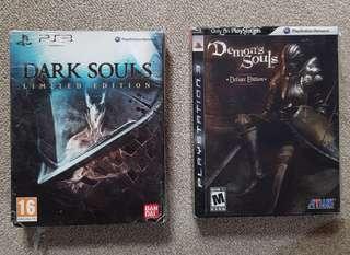 PS3 Demons Souls Deluxe Ed Dark Souls Collectors Edition
