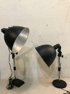 廣口攝影燈2支 燈罩E27桌面高度30cm,內附長庚生技自然光燈泡