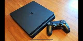 (still with warranty) PS4 Slim *brand new open used once to log in* 2GAMES + 2CONTROLLER