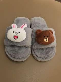 Line Bedroom Slippers (Kids)