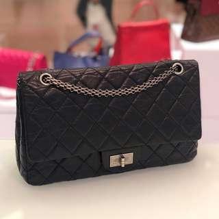 cf2439ebdf1c Chanel 2.55 Reissue 227 Flap in Black Distressed Calfskin
