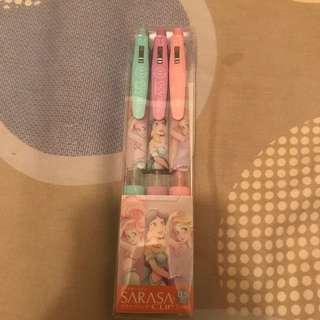 日本迪士尼SARASA粉色公主系列筆Japan Disney SARASA pastel colour Princess pen