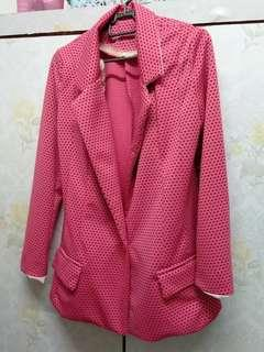 [free post sm] Korean pink blazer women #MMAR18