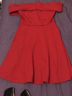 平口紅洋裝