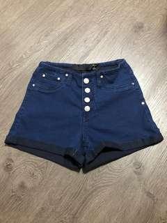 🚚 high waisted dark blue shorts