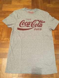 Grey Topman Coca Cola Coke Shirt Top T-shirt