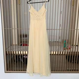 🚚 Yellow Maxi Dress
