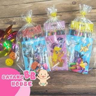 Birthday Party Gift colouring & sticker book + Colour pencil 12pcs Preschool Function