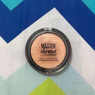 Maybelline Master Chrome Highlighter : Molten Gold 100