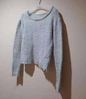 Preloved Sparkling Silver Sweater L