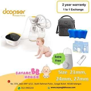 Doopser rechargeable double breast pump