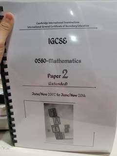 Igcse Math Paper 2