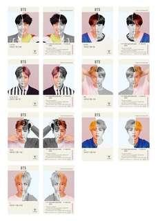 🚚 limited edition official bts t money transparent cards