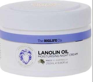 The Big Life Co Lanolin Moisturising Skin/Night Cream - 250ml