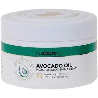 The Big Life Co Avacado Oil Moisturising Skin Cream - 250ml
