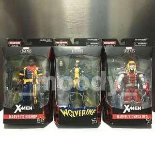 Marvel Legends Bishop, Wolverine (X-23, Laura Kinney), Omega Red