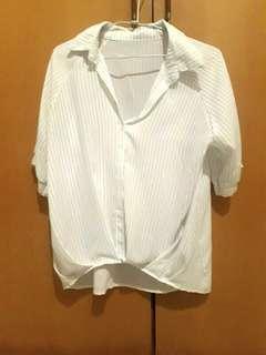 🚚 雪紡慵懶五分袖襯衫