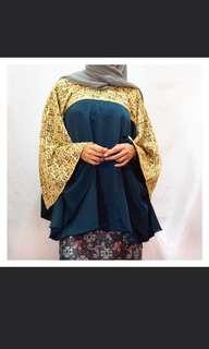Brukat kombinasi satin blouse