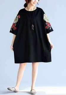 Embroidery Beads Shirt Casual Loose Top