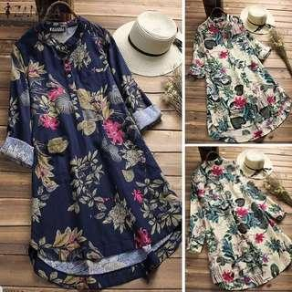 [PO] Euro Floral Long Blouse (37)