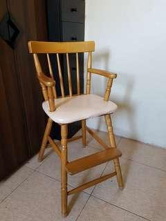 Wooden High chair for toddlers