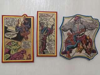 Spiderman and X men themed hand crafted magnets