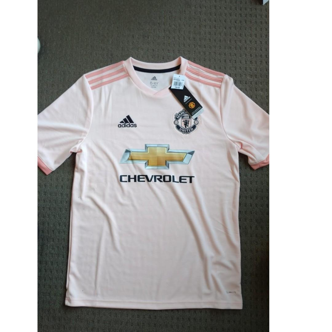 new styles 0dab5 9c5f7 Adidas Manchester United away kit pink 2018 - 2019, Men's ...