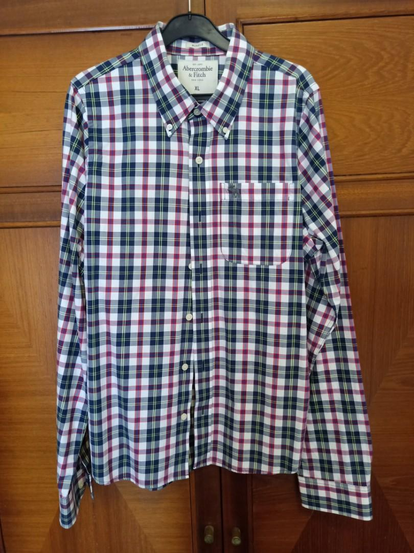A&F checked shirt Abercrombie and Fitch. Muscle fit