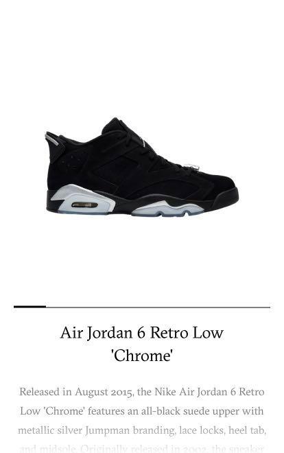 1c215db1ae6 Air Jordan 6 Retro Low Chrome