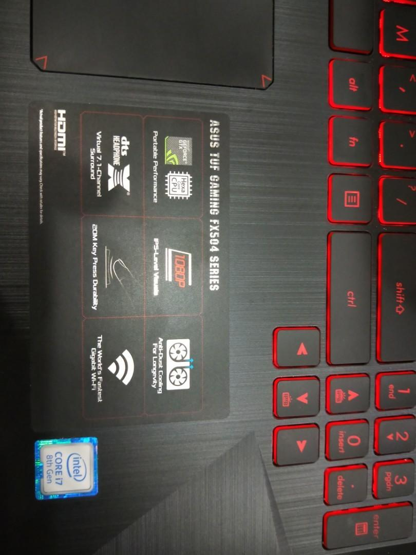 ASUS TUF FX504 GAMING LAPTOP, Electronics, Computers