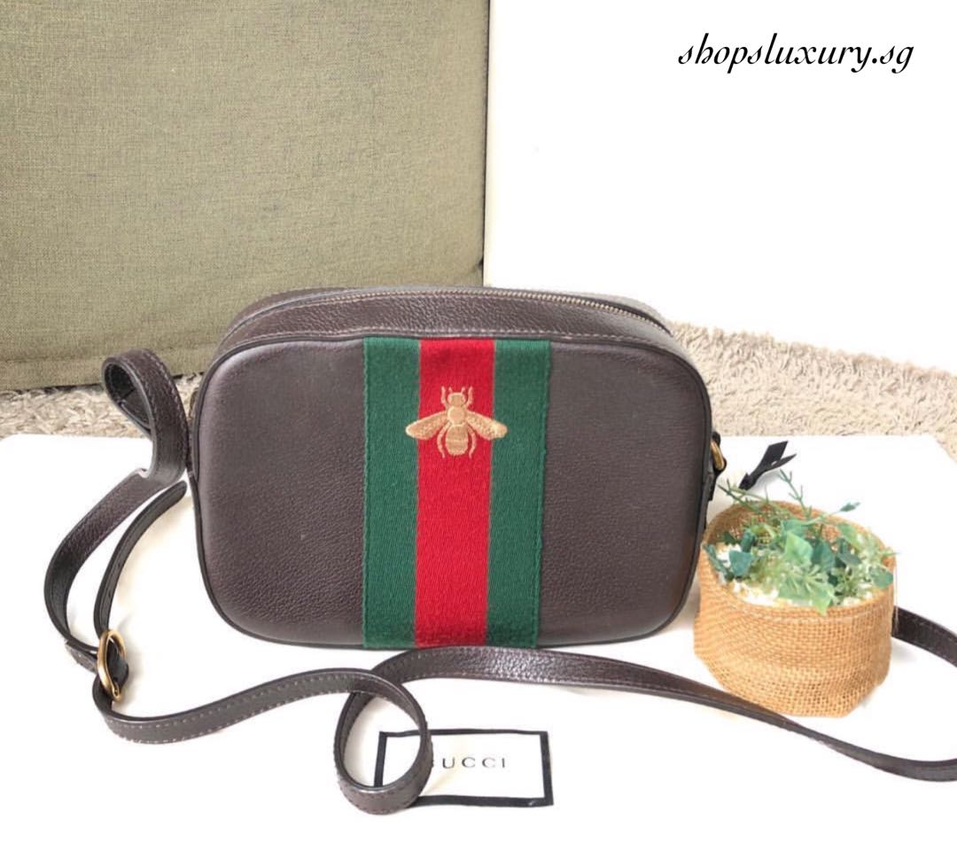 6bbdc398683 Authentic  ✨ GUCCI Brown Bee Camera Bag Crossbody