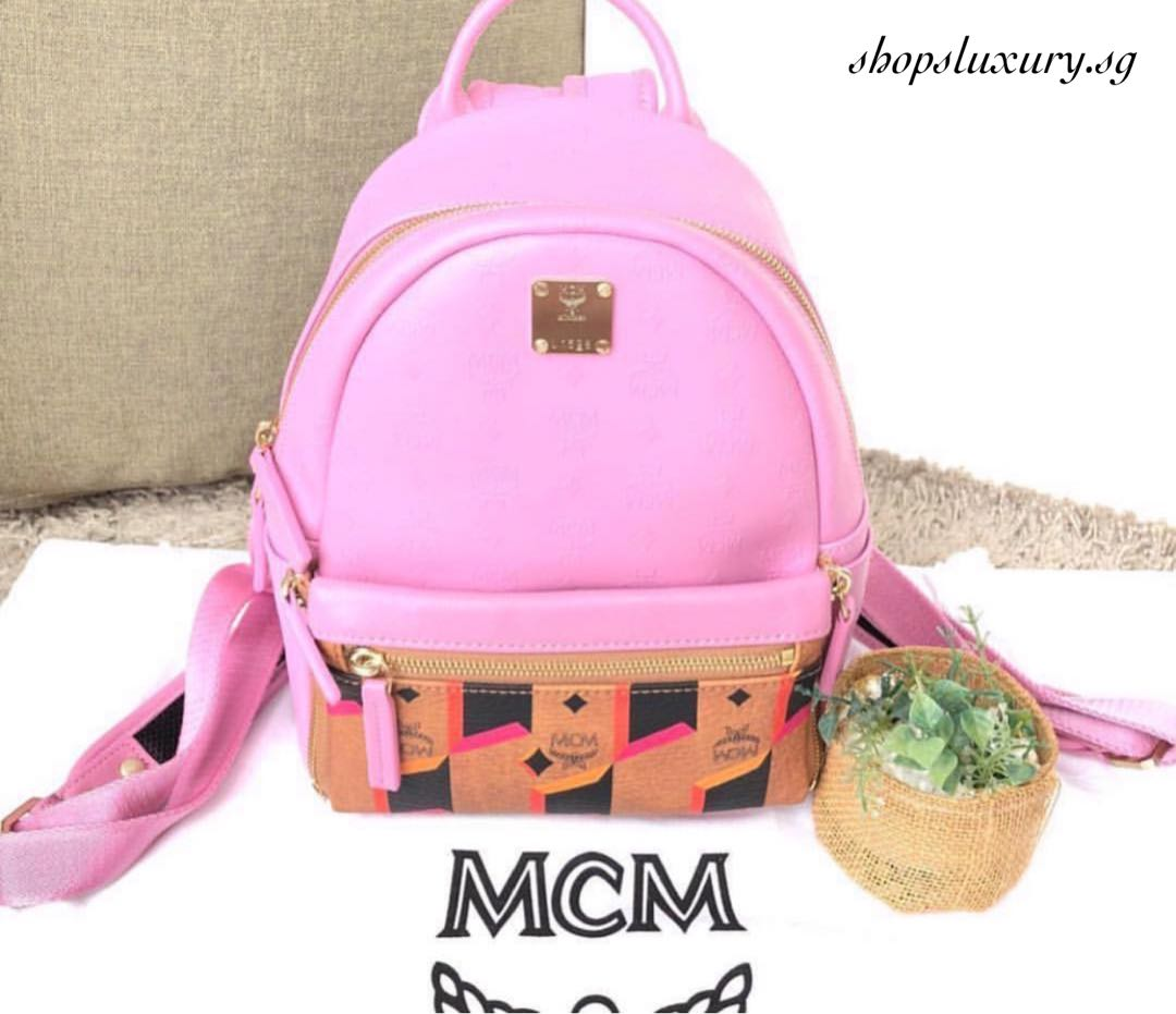 Mcm Pink Small Backpack Patmo Technologies Limited