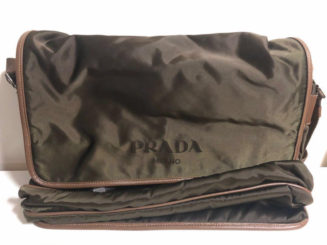 4a7ad9c343ad Authentic Men Prada Messenger Sling Bag