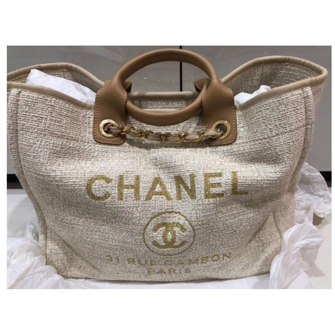 8213b6995e85dd Brand New Chanel Deauville Shopper Tote - one of Chanel's best ...