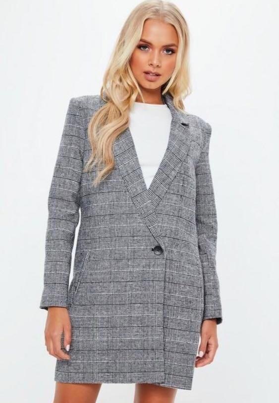 BRAND NEW Check Coat with Wrap Front