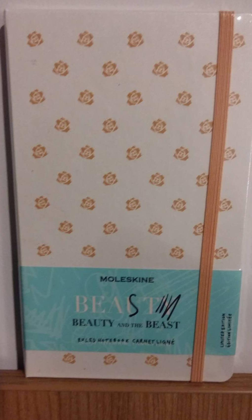 BRAND-NEW, UNOPENED MOLESKINE LIMITED EDITION BEAUTY AND THE BEAST ROSE THEME ruled notebook