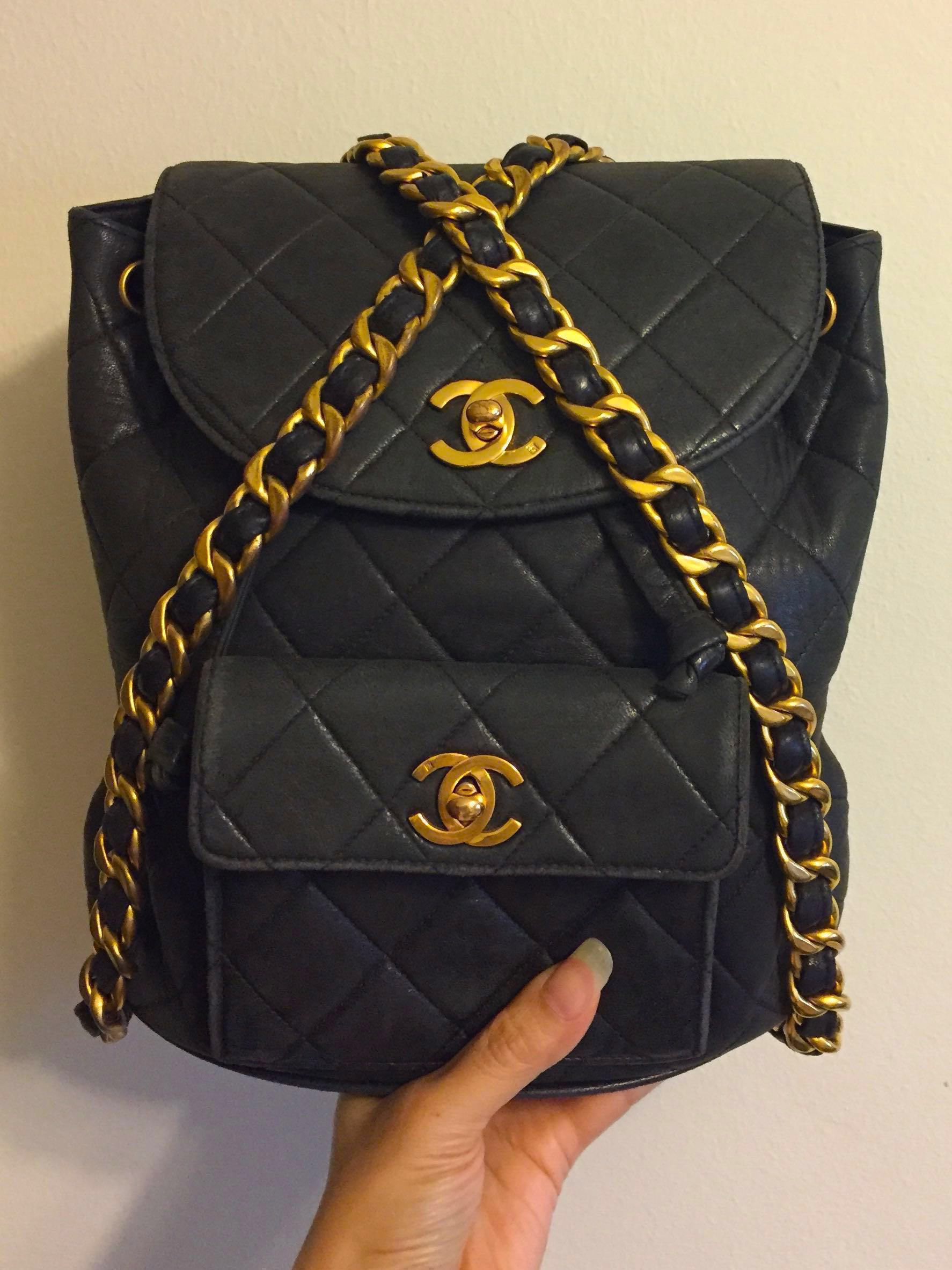 5bff6a6f5fe7 Chanel Vintage Backpack , Luxury, Bags & Wallets, Handbags on Carousell