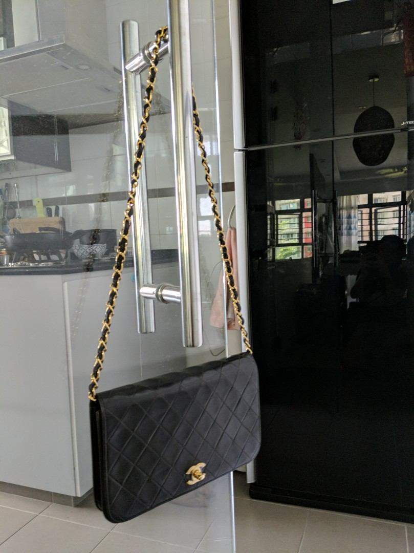84bfae6a6d7a12 Chanel Vintage Lambskin bag with 24k gold chain, Luxury, Bags ...