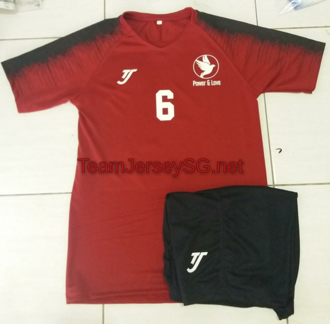 a65c55f2d20a Customize team soccer jersey - TJ red maroon (free printing)