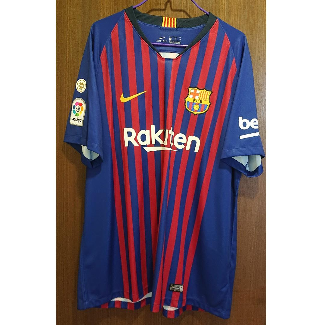 on sale 66b5e 3e120 FC Barcelona 2018/19 home kit by NIKE with Champion badge ...