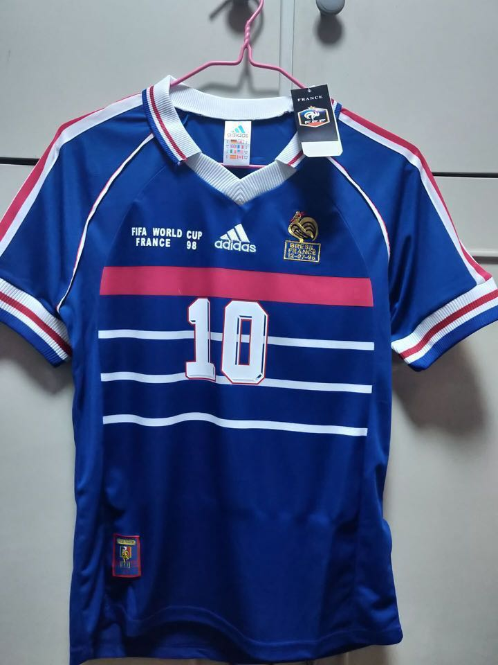 4485356ed5 France Home 1998 Champion Football Jersey, Sports, Sports Apparel on ...