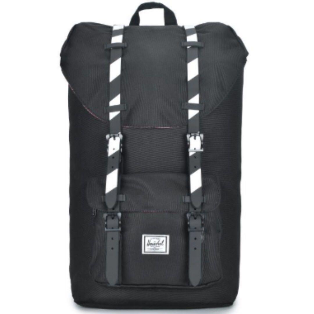 f6361b71ff4 Herschel Supply Co - Little America Backpack (Black White) - Full ...