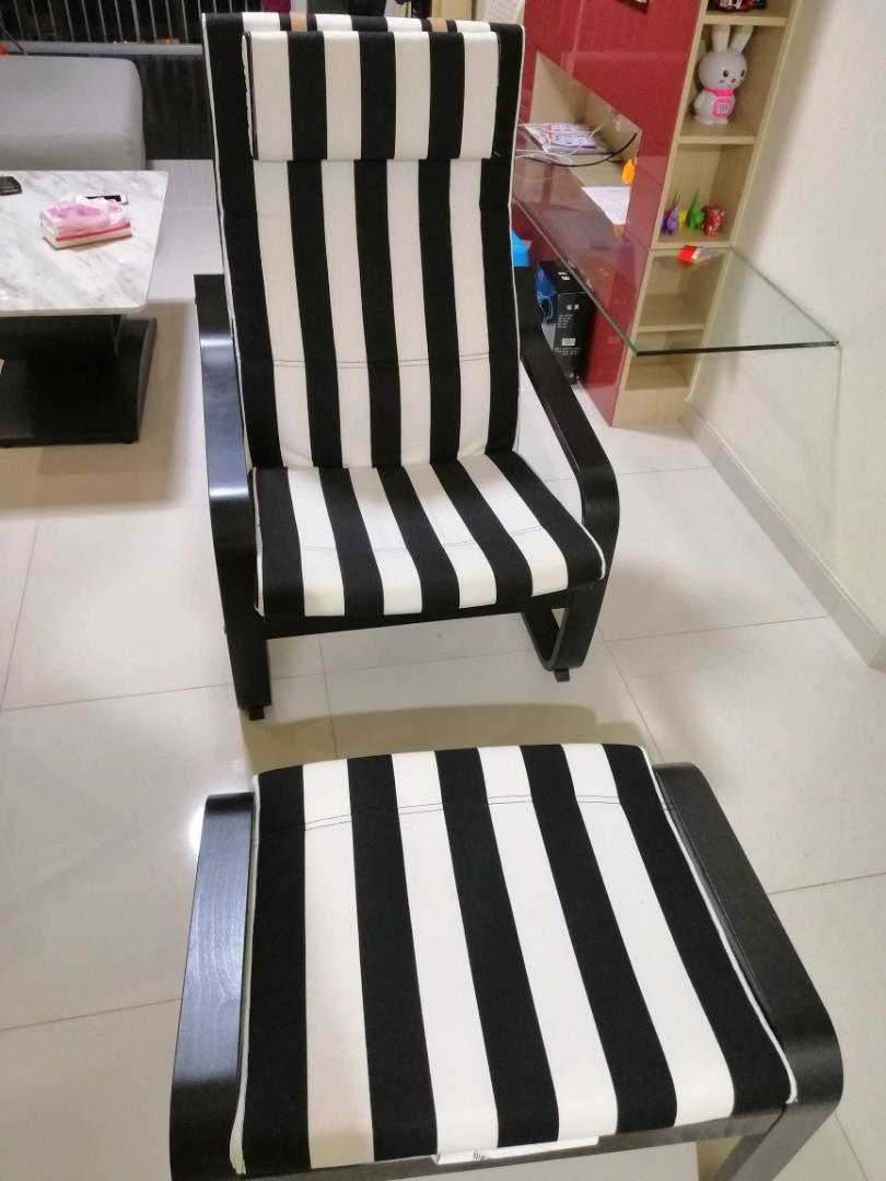 Strange Ikea Poang Chair And Foot Stool Set Furniture Tables Ibusinesslaw Wood Chair Design Ideas Ibusinesslaworg