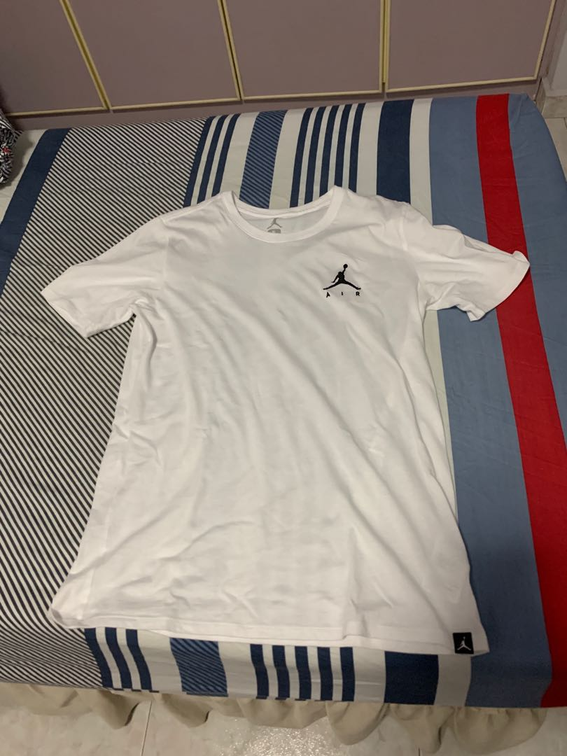 4b6cd940da2 Jordan Sportswear Jumpman Air White Tee (S), Men's Fashion, Clothes ...